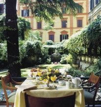 Hotel Quirinale 4*. Территория отеля