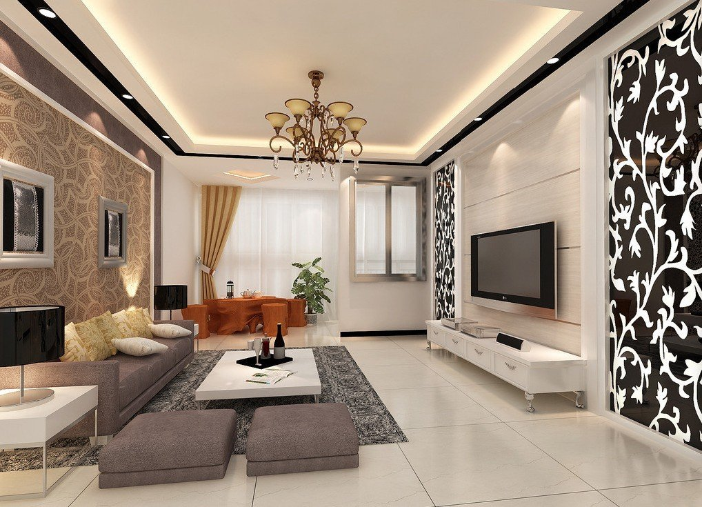 Modern living dining room