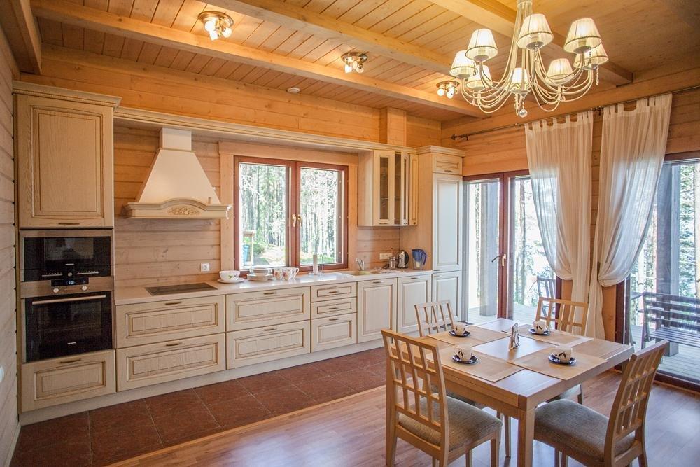 фото дизайн кухни загородного дома