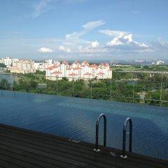 Отель Pan Pacific Serviced Suites Beach Road, Singapore бассейн фото 2