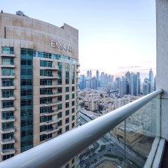 Апартаменты One Perfect Stay Studio Burj Al Nujoom балкон