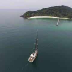 Отель Yacht By The Beach На Чом Тхиан приотельная территория