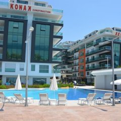 Отель Luxury Apt in Konak Sea Side with a Sea front view and a private beach бассейн фото 3