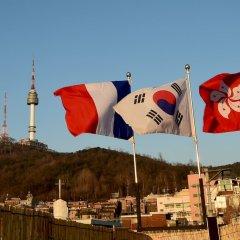 Отель Photo Park Guesthouse Сеул приотельная территория