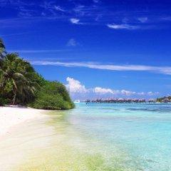Отель Najaf Lake View Guesthouse Мальдивы, Северный атолл Мале - отзывы, цены и фото номеров - забронировать отель Najaf Lake View Guesthouse онлайн пляж фото 2