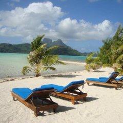 Отель Bora Bora Eco Lodge Mai Moana Island Французская Полинезия, Бора-Бора - отзывы, цены и фото номеров - забронировать отель Bora Bora Eco Lodge Mai Moana Island онлайн пляж фото 2