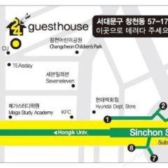 Отель Shinchon Hongdae Guesthouse городской автобус