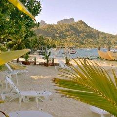 Отель Village Temanuata Французская Полинезия, Бора-Бора - отзывы, цены и фото номеров - забронировать отель Village Temanuata онлайн приотельная территория