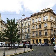 Отель PURPUR Прага приотельная территория