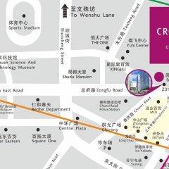 Отель Crowne Plaza Chengdu City Center городской автобус