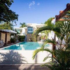 Отель Sayab Hostel Мексика, Плая-дель-Кармен - отзывы, цены и фото номеров - забронировать отель Sayab Hostel онлайн бассейн фото 3