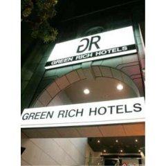 Отель Green Rich Nishitetsu Ohashi Ekimae Фукуока вид на фасад