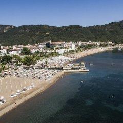 Mersoy Exclusive Aqua Resort Турция, Мармарис - отзывы, цены и фото номеров - забронировать отель Mersoy Exclusive Aqua Resort - All Inclusive онлайн пляж фото 2
