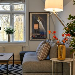 Апартаменты Super Cozy 3-bedroom Duplex Apartment in Frederiksberg Close to Copenhagen Zoo Фредериксберг интерьер отеля