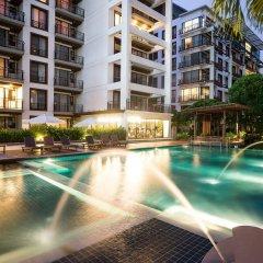Отель Amanta Hotel & Residence Ratchada Таиланд, Бангкок - отзывы, цены и фото номеров - забронировать отель Amanta Hotel & Residence Ratchada онлайн бассейн фото 2