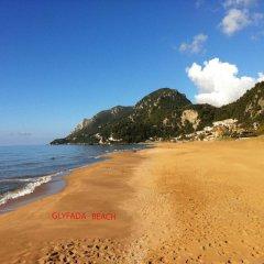 Отель Corfu Glyfada Menigos Resort пляж