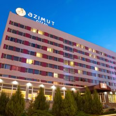 Азимут Отель Астрахань вид на фасад