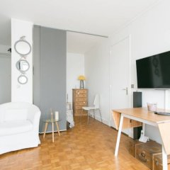 Апартаменты 1 Bedroom Apartment Paris Montparnasse комната для гостей фото 2