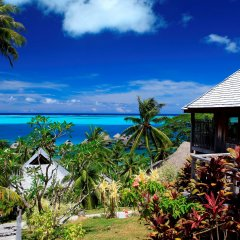 Отель Conrad Bora Bora Nui Французская Полинезия, Бора-Бора - 8 отзывов об отеле, цены и фото номеров - забронировать отель Conrad Bora Bora Nui онлайн пляж