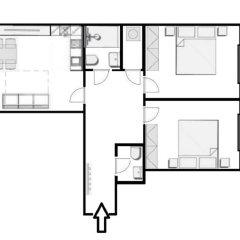 Апартаменты Charming Two-Bedroom Apartment Next To The Emmaus Abbey Прага спортивное сооружение