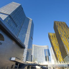 Отель Waldorf Astoria Las Vegas вид на фасад