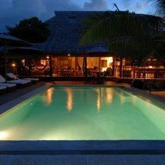 Отель Green Lodge Moorea Французская Полинезия, Папеэте - отзывы, цены и фото номеров - забронировать отель Green Lodge Moorea онлайн бассейн