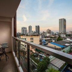 Отель The Aim Sathorn Hotel Таиланд, Бангкок - отзывы, цены и фото номеров - забронировать отель The Aim Sathorn Hotel онлайн балкон