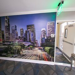Отель Staples Center Inn Лос-Анджелес балкон
