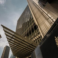 Отель Four Seasons Dubai International Financial Center Дубай вид на фасад