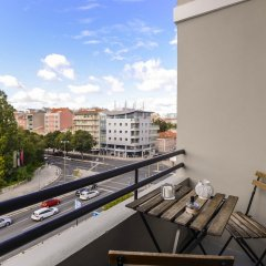 Апартаменты Apartment With 4 Bedrooms in Lisboa, With Wonderful City View, Furnish балкон