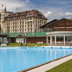 Отель Gstaad Palace Швейцария, Гштад - отзывы, цены и фото номеров - забронировать отель Gstaad Palace онлайн бассейн фото 2
