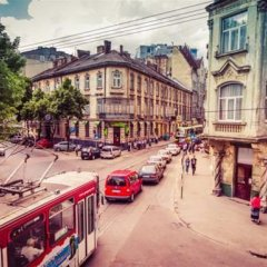 Apart-Hotel City Center Contrabas Львов балкон