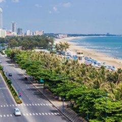 Отель Thuy Van Hotel Вьетнам, Вунгтау - отзывы, цены и фото номеров - забронировать отель Thuy Van Hotel онлайн пляж
