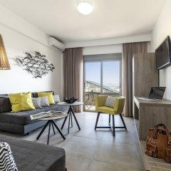 Апартаменты Mirage City Apartments Родос комната для гостей фото 2
