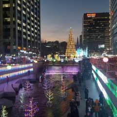 Отель 24 Guesthouse Cheonggyecheon балкон