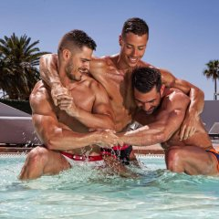 Апартаменты AxelBeach Ibiza Suites Apartments Spa and Beach Club - Adults Only бассейн