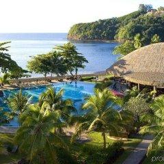 Отель Tahiti Pearl Beach Resort Французская Полинезия, Аруе - отзывы, цены и фото номеров - забронировать отель Tahiti Pearl Beach Resort онлайн пляж фото 2