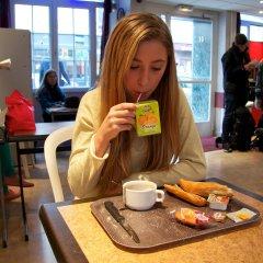 Отель Auberge Internationale des Jeunes питание