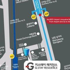 Отель G Stay Residence Сеул городской автобус