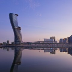 Отель Andaz Capital Gate Abu Dhabi - A Concept By Hyatt Абу-Даби приотельная территория