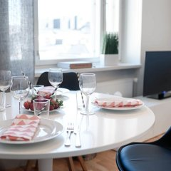 Апартаменты Forenom Serviced Apartments Helsinki Albertinkatu питание