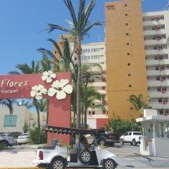 Отель Las Flores Beach Resort парковка