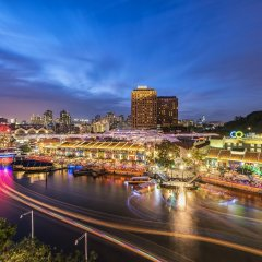 Отель InterContinental Singapore Robertson Quay Сингапур, Сингапур - отзывы, цены и фото номеров - забронировать отель InterContinental Singapore Robertson Quay онлайн приотельная территория фото 2