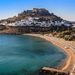 Отель Oktober Down Town Rooms Греция, Родос - отзывы, цены и фото номеров - забронировать отель Oktober Down Town Rooms онлайн пляж