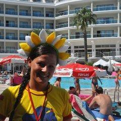 Pineta Park Deluxe Hotel - All Inclusive пляж фото 2