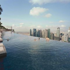 Отель Marina Bay Sands бассейн фото 3