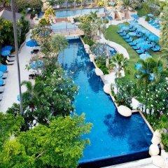 Отель Jomtien Palm Beach Hotel And Resort Таиланд, Паттайя - 10 отзывов об отеле, цены и фото номеров - забронировать отель Jomtien Palm Beach Hotel And Resort онлайн бассейн фото 3