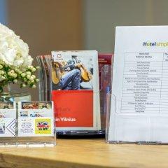 Отель Simple Plus Литва, Вильнюс - отзывы, цены и фото номеров - забронировать отель Simple Plus онлайн интерьер отеля фото 3