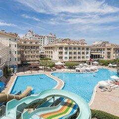 Grand Seker Hotel Турция, Сиде - 1 отзыв об отеле, цены и фото номеров - забронировать отель Grand Seker Hotel - All Inclusive онлайн бассейн фото 2