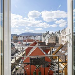 Отель Bergen Harbour Hotel Норвегия, Берген - отзывы, цены и фото номеров - забронировать отель Bergen Harbour Hotel онлайн балкон